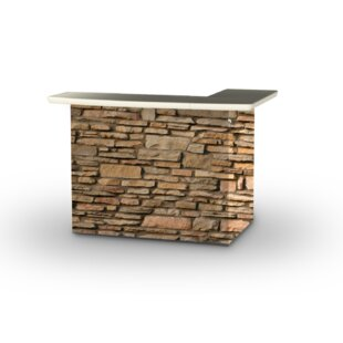 Rock Wall Home bar