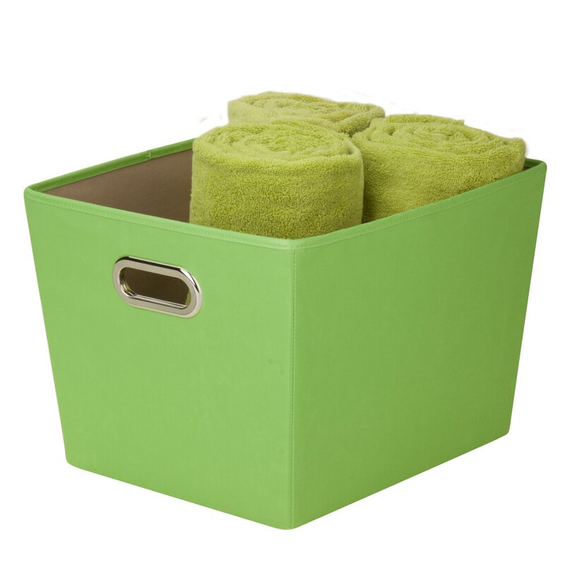 Decorative Storage Bin With Handle