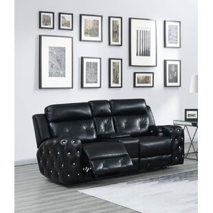 Lefebvre Jewel Embellished Power Console Reclining Loveseat
