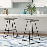 Jason 30.7 Bar Stool (Set of 2) by Wade Logan®