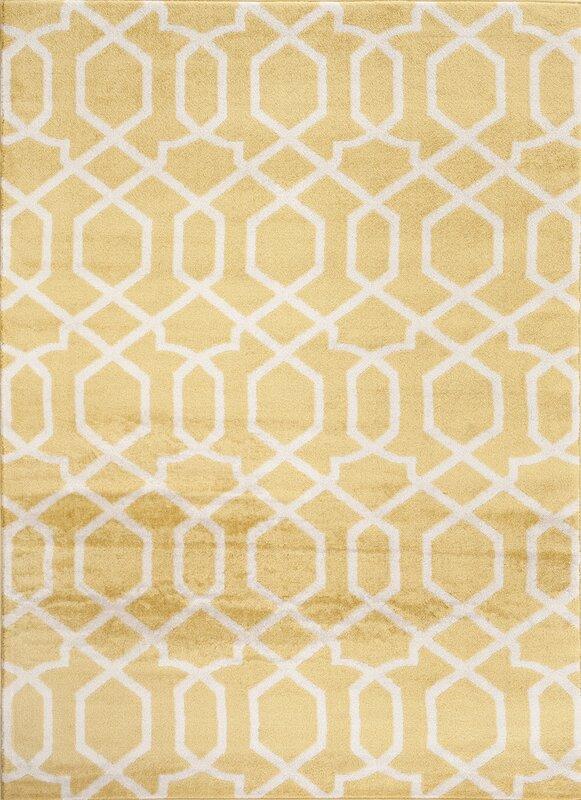 Charming Ryann Yellow Area Rug