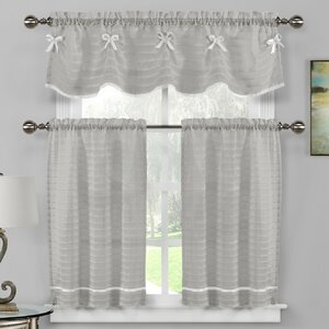 Isla 3 Piece Kitchen Curtain Set