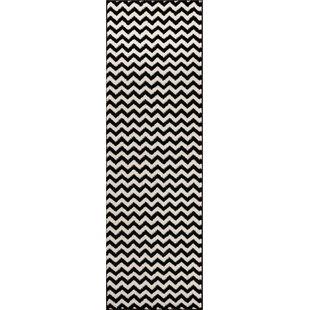 Best Burgess Chevron Black/White Area Rug ByEbern Designs