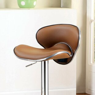 Aubriella Adjustable Height Swivel Bar Stool Orren Ellis