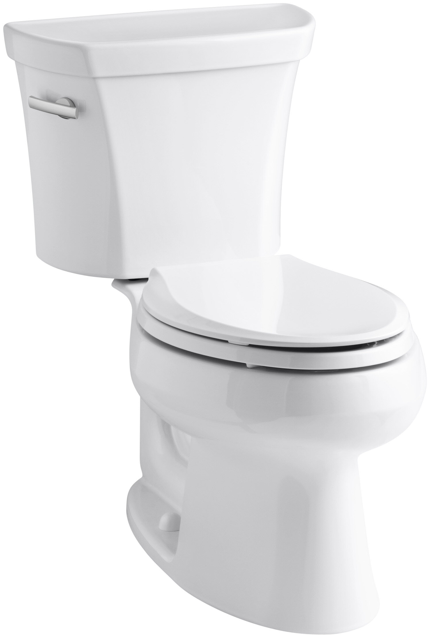 Phenomenal Wellworth Two Piece Elongated 1 6 Gpf Toilet With Class Five Flush Technology And Left Hand Trip Lever Inzonedesignstudio Interior Chair Design Inzonedesignstudiocom