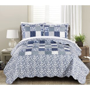 Joyanna Indigo 2-3 Piece Quilt Set by Morgan Home Today Sale Only