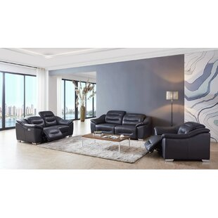 Deals Rafe Reclining 3 Piece Leather Living Room Set by Orren Ellis Reviews (2019) & Buyer's Guide