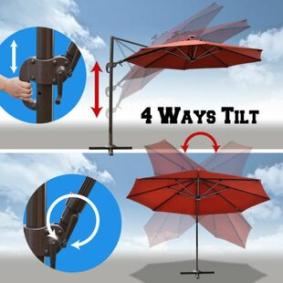 Conti 11.5' Lighted Umbrella