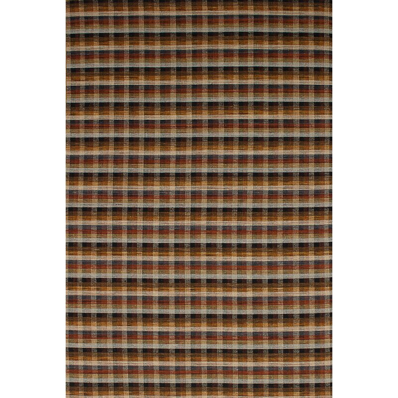 August Grove Wickman Handwoven Flatweave Wool Brown Dark Red Area Rug Wayfair