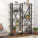Hendley 70.86 H x 59.05 W Metal Standard Bookcase by 17 Stories
