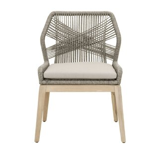 Arndt Weave Upholstered Dining Chair (Set of 2) by Bungalow Rose SKU:BA278964 Check Price