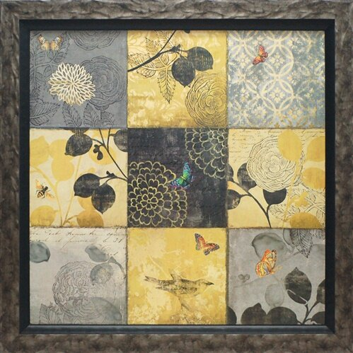 Patchwork Wall Art - 'Patchwork' by Aimee Wilson Framed Graphic Art