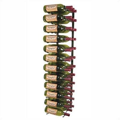 vintageview wall series 36 bottle wall mounted wine rack u0026 reviews wayfair