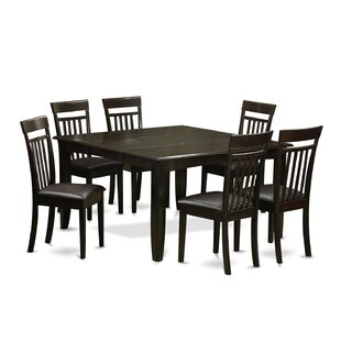 Pilning 7 Piece Dining Set with Rectangular Table Top August Grove