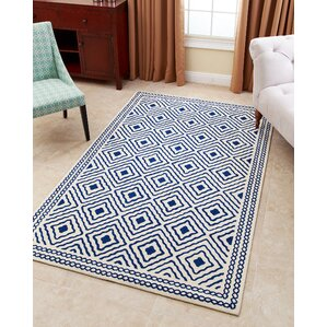 Karl Hand Tufted Royal Blue Area Rug