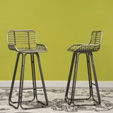 Villani Counter Height 30 Bar Stool (Set of 2) by Williston Forge