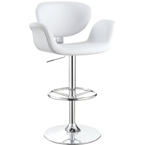 Lydia Adjustable Height Swivel Bar Stool by Wade Logan