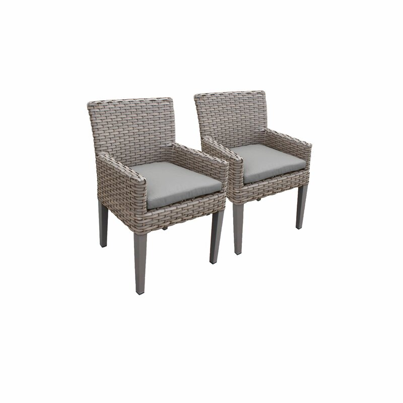 Sol 72 Outdoor  Rockport Patio Dining Chair with Cushion Cushion Color: Spa