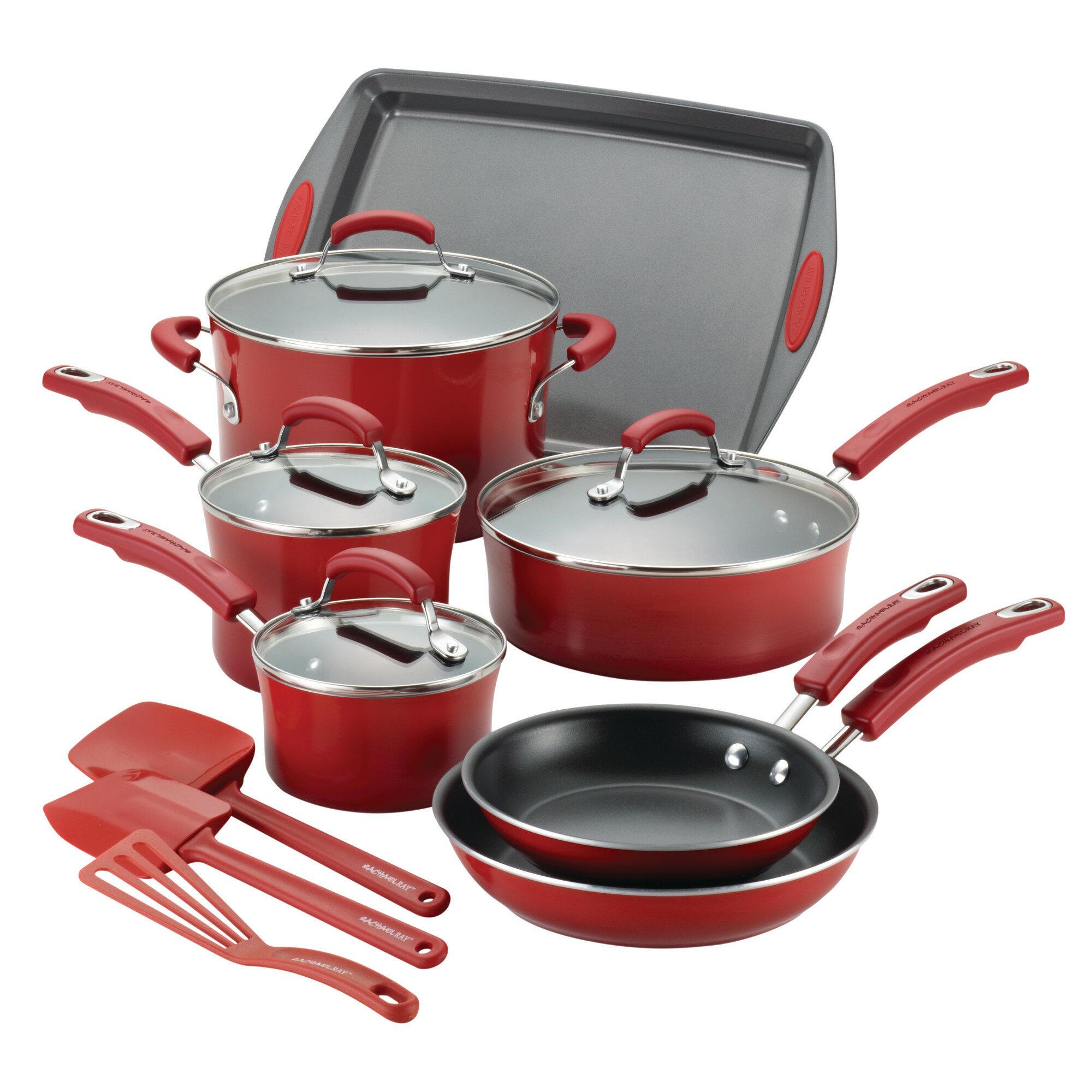 Rachael Ray 14 Piece Aluminum Non Stick Cookware Set ...