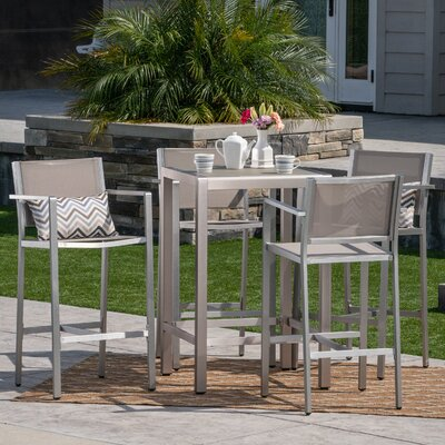 Royalston Outdoor 5 Piece Bar Set by Brayden Studio Sale