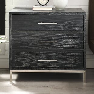 Arsalan 3 Drawer Nightstand by Nicole Miller