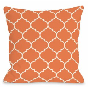 Repeating Moroccan Outdoor Throw Pillow