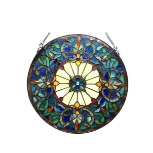 Tiffany Gl Victorian Window Panel Round Shaped Stained Panels You Ll Love Wayfair