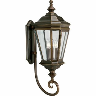 Triplehorn 3-Light Brass Outdoor Sconce