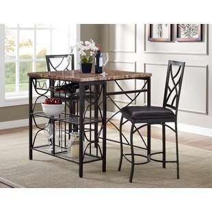 Vaughan Kitchen 3 Piece Breakfast Nook Dining Set Fleur De Lis Living