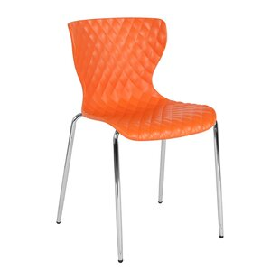 Armless Ergonomically Contoured Stacking Chair by Offex