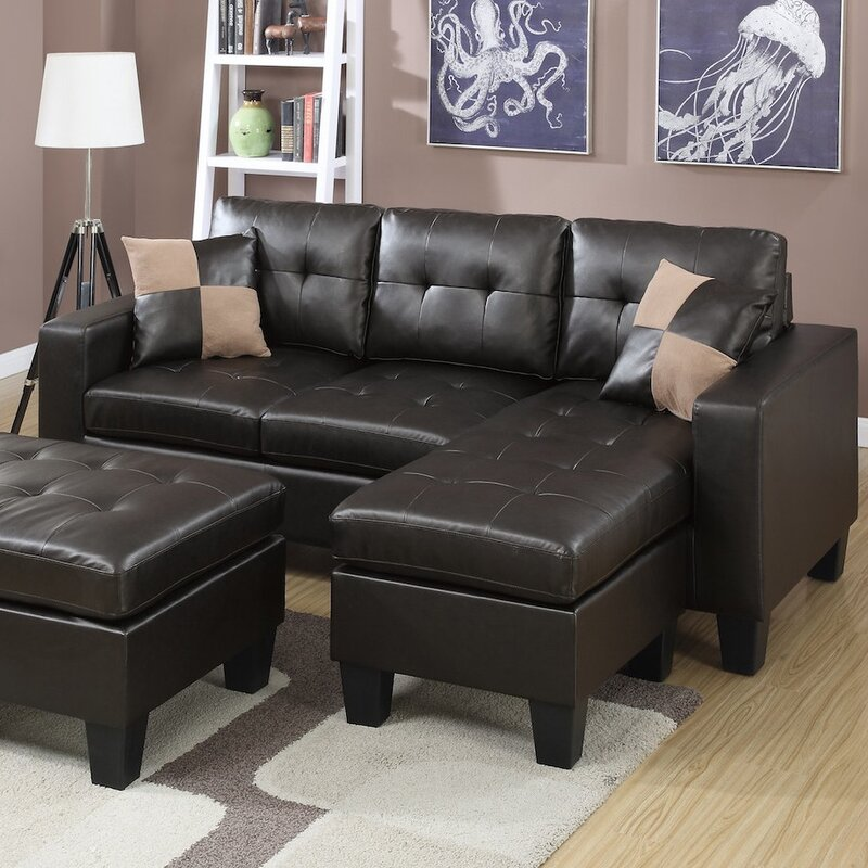 Reversible Sectional : sectional and ottoman - Sectionals, Sofas & Couches