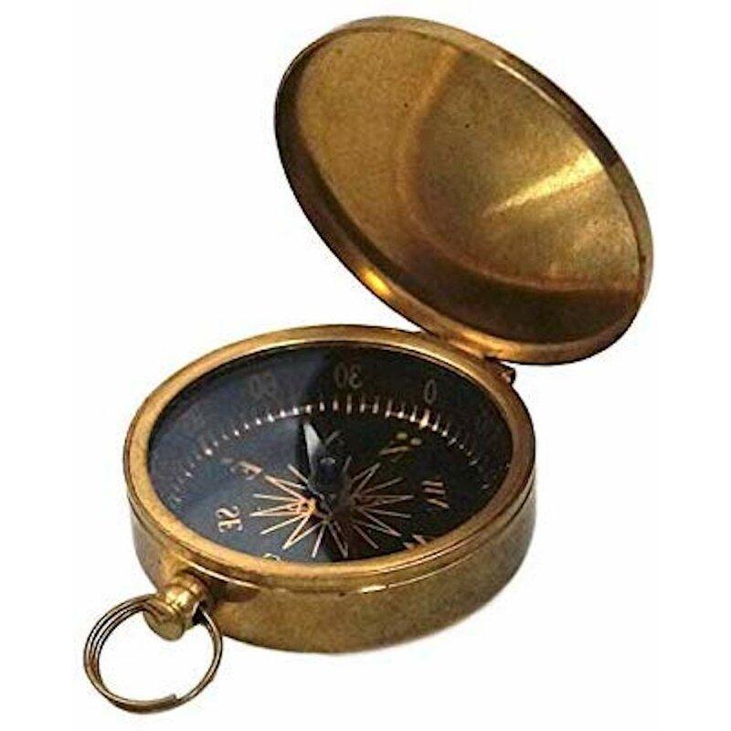 Charlton Home 2 Piece Pocket Compass Sculpture Set Wayfair