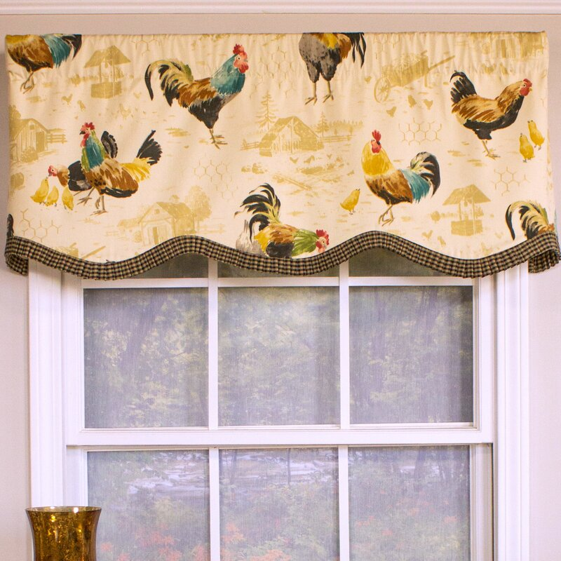 Rlf Home Rooster Strut Provance 50 Curtain Valance Reviews Wayfair