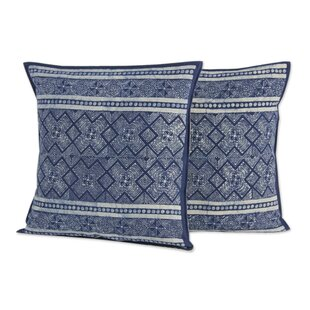 Thai Artisan Crafted Batik Cotton Pillow Cover (Set of 2)
