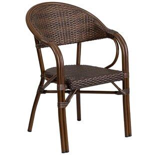 Shelie Modern Rattan Restaurant Patio Chair by Bayou Breeze Reviews
