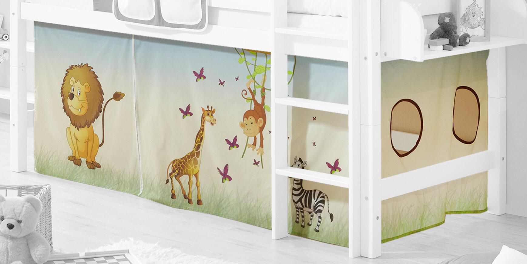 Vorhang Für Etagenbett : Ticaa hochbett vorhang safari wayfair