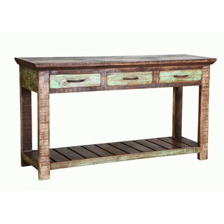 "Symonds 54"" Solid Wood Console Table by Highland Dunes SKU:AD457423 Buy"