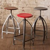 Fremont Swivel Adjustable Height Bar Stool by Williston Forge