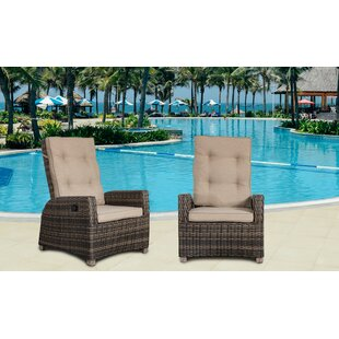Callaway Outdoor Patio Chair with Cushion (Set of 2)