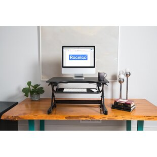 Casurina EADR II Height Adjustable Sit To Stand Desk Riser With Anti Fatigue Mat by Latitude Run Savings