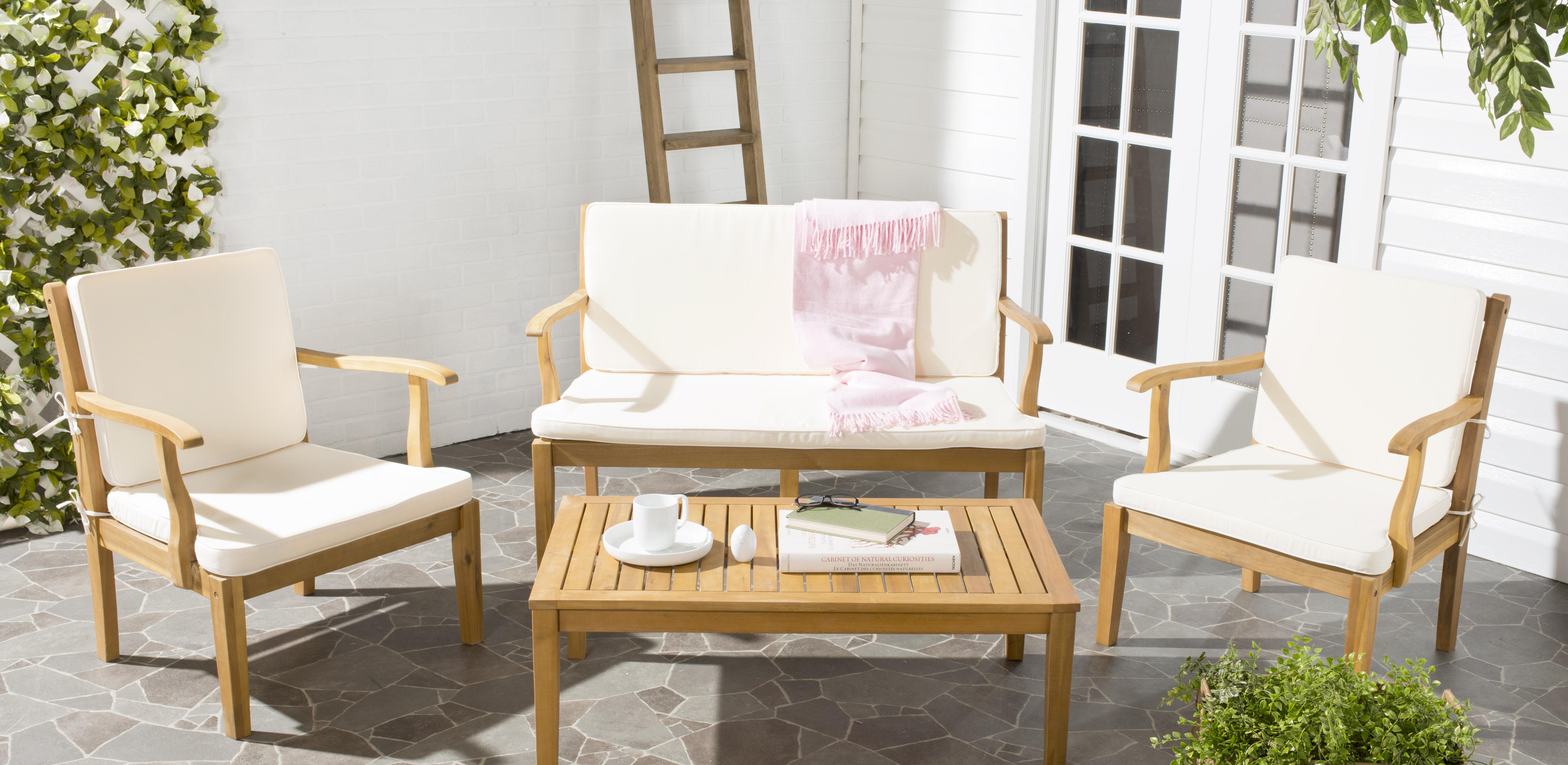 Safavieh Bradbury 4 Piece Sofa Set With Cushions | Wayfair