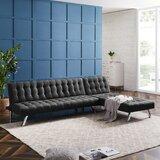 Naomhan 100'' Reversible Sleeper Sofa & Chaise by Wrought Studio™