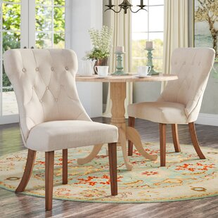 Tamarack Linen Tufted Upholstery Dining Chair (Set of 2)
