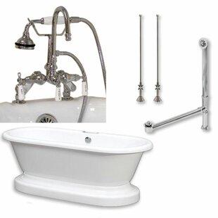 Best 70 x 30 Freestanding Soaking Bathtub ByCambridge Plumbing