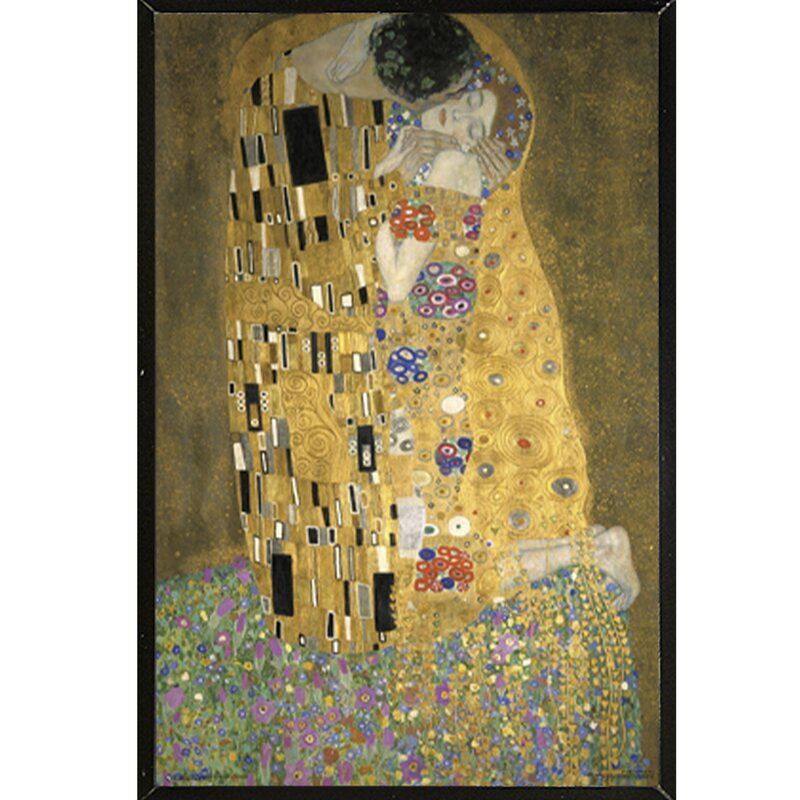 Frame USA \'KLIMT-Kiss\' Framed Painting Print & Reviews | Wayfair