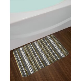 Vertical Stripes Abstract Bath Rug
