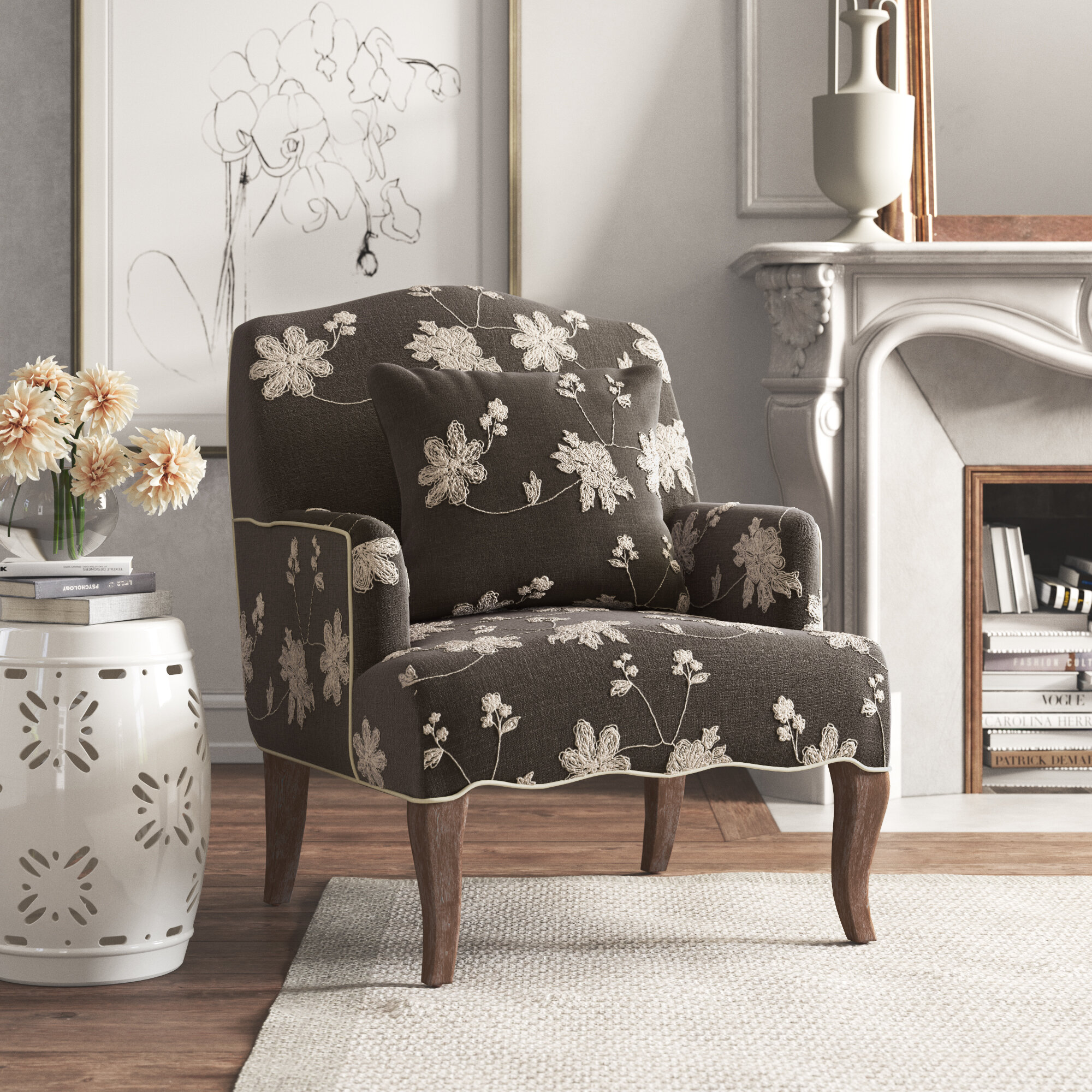 Floral Accent Chairs You Ll Love In 2020 Wayfair