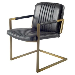 Ariana Cantilever Genuine Leather Upholstered Dining Chair by 17 Stories SKU:CD470257 Details