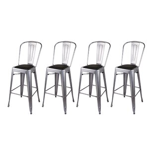 Khalil 30 Bar Stool (Set of 4) by 17 Stories