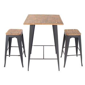 Lovely Claremont 3 Piece Pub Table Set